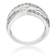 Four strand diamond ring