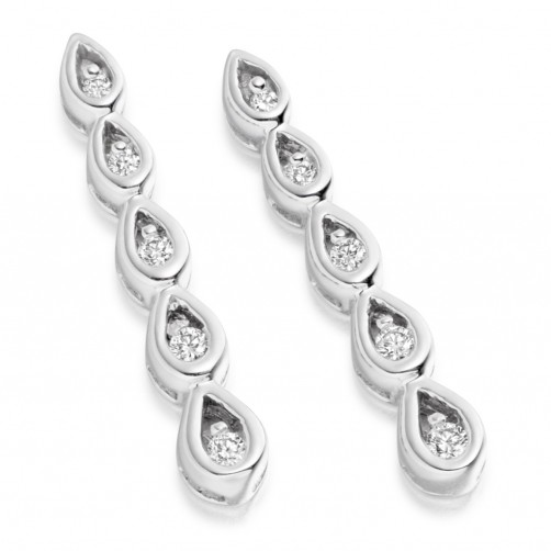 Five stone droplet earrings