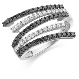 Five strand diamond ring