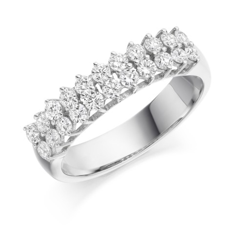 Two row eternity ring