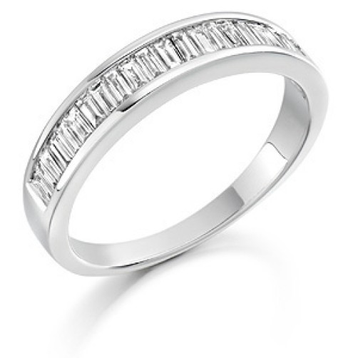 Baguette diamond eternity ring