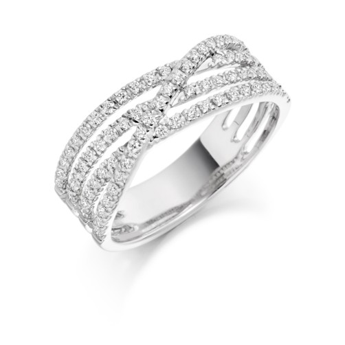 Four strand ring
